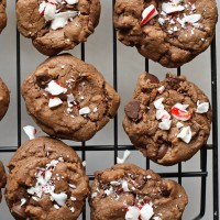Double Peppermint Chocolate Chip Cookies