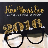2016 New Year's Eve Glasses Prop