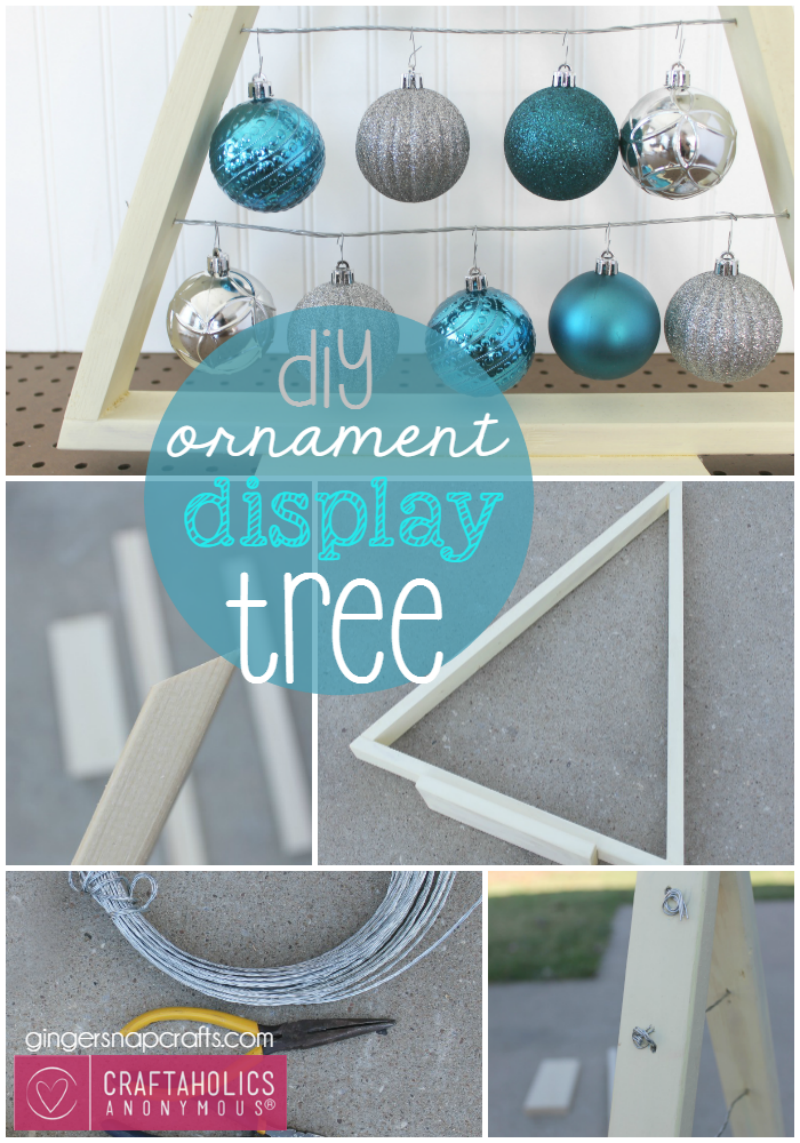 CA DIY Ornament Display Tree at GingerSnapCrafts.com