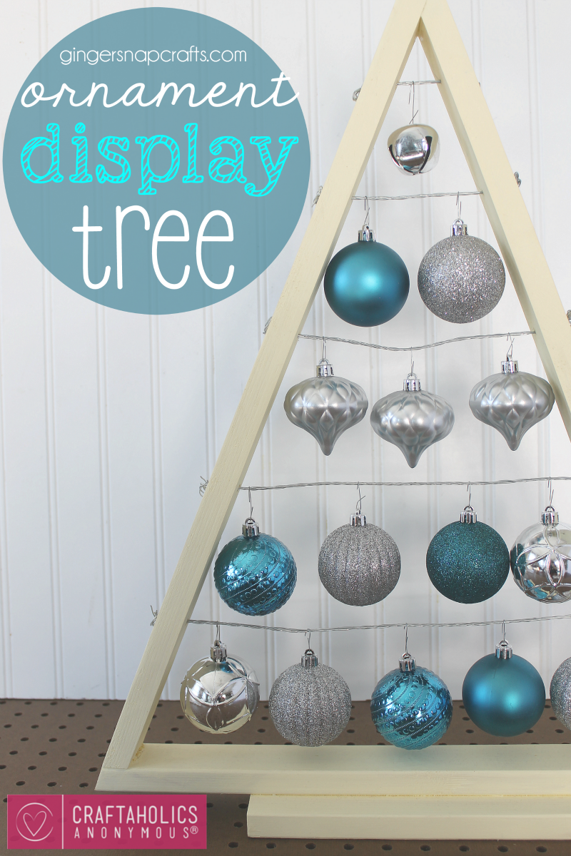 DIY Ornament Display Tree Tutorial. This is so pretty! Great way to display ornaments so kids can't break them. ha!