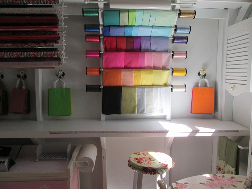 wrapping paper tissue paper storage