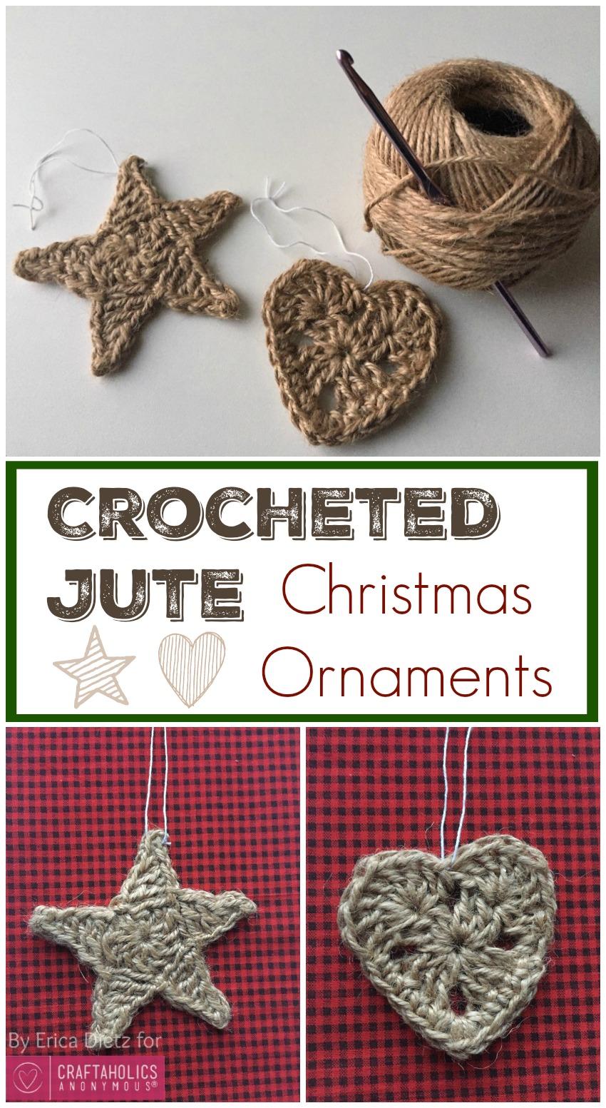 Crocheted Jute Christmas Ornaments
