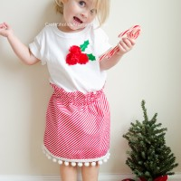 DIY Holly Berry Christmas Shirt Tutorial