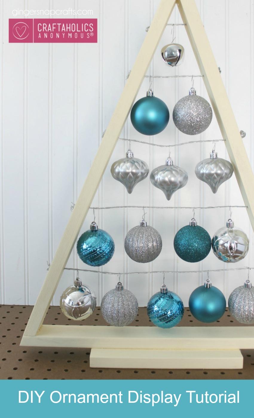 DIY ornament display Tree tutorial. Great way to display ornaments so the kids can't break them. ha!