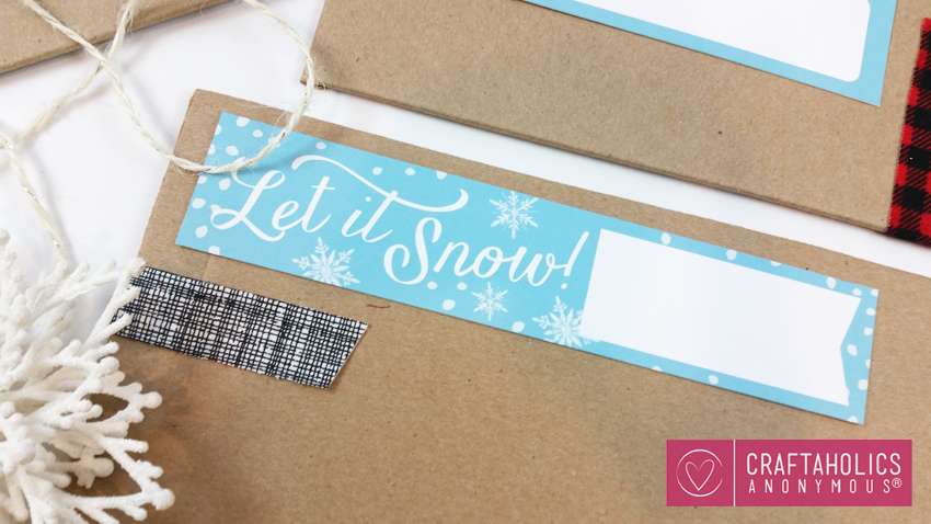 Christmas Mailing Labels by Paperelli @CraftaholicsAnonymous