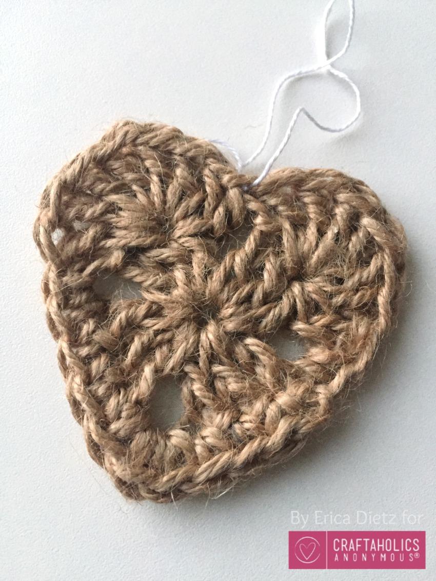 jute heart ornament