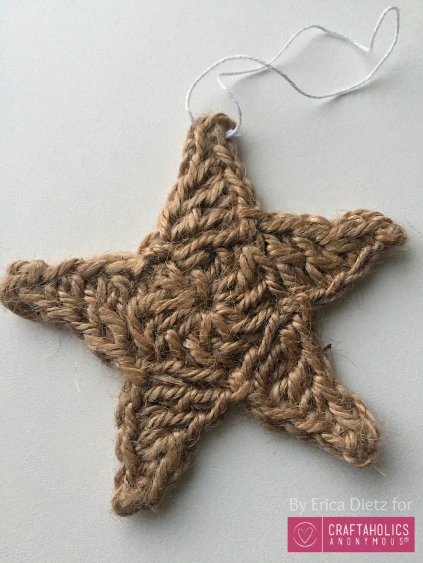 jute star ornament