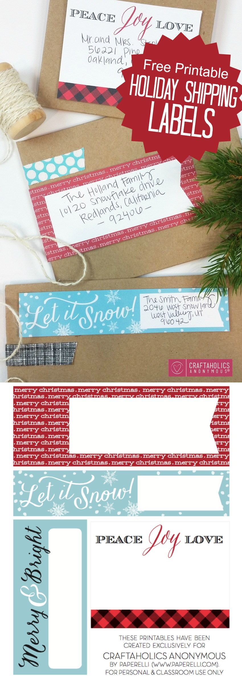 This is a graphic of Sassy Free Printable Address Labels Christmas
