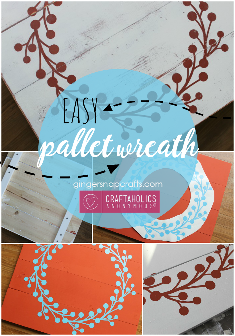 Easy Pallet Wreath Tutorial by GingerSnapCrafts.com