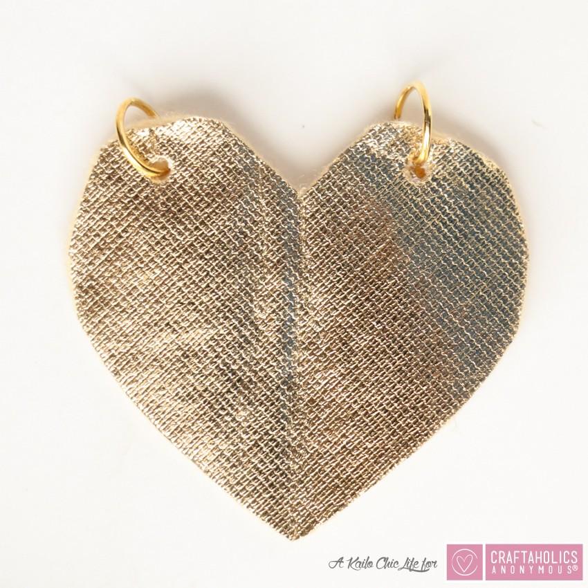 mini pompom necklace for valentines day