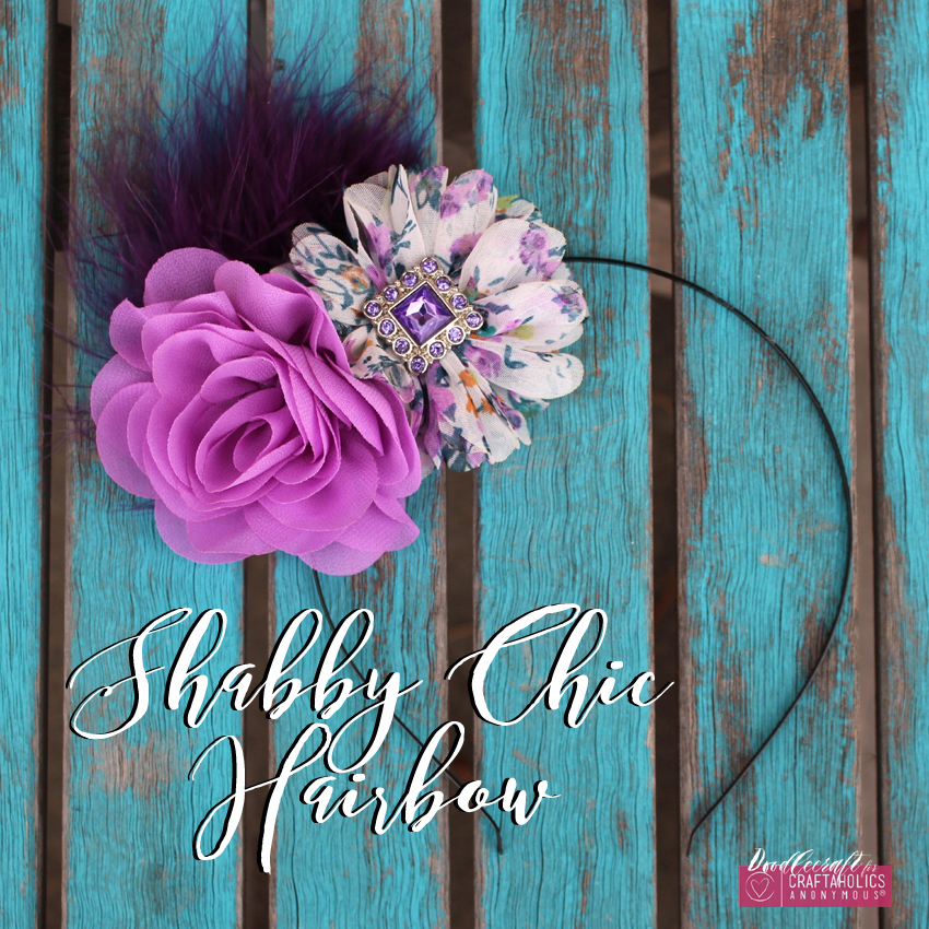 Shabby Chic hair bow clip orchid flowers chiffon marabou feather rhinestone button easy diy