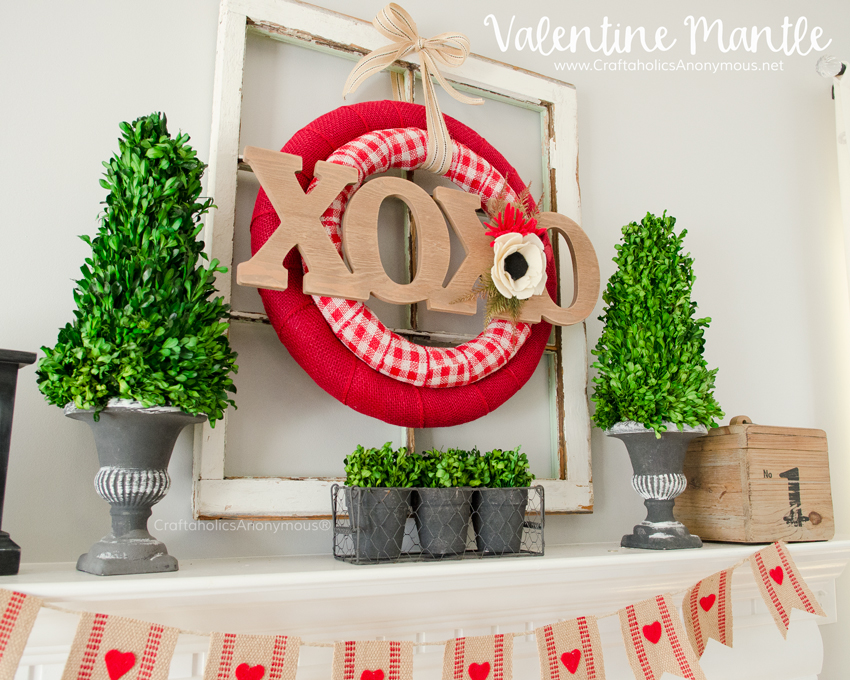 DIY Double Valentine Wreath idea :: Use 2 wreath forms for a unique and layered look!