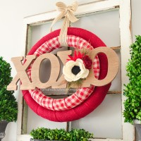 DIY Double Valentine Wreath Tutorial