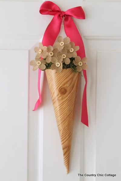 cone spring wreath