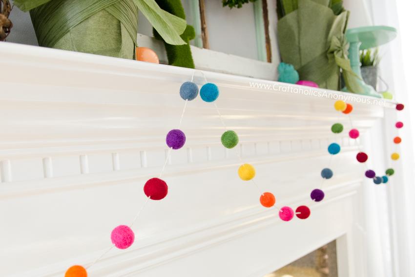 DIY Rainbow felt garland bunting