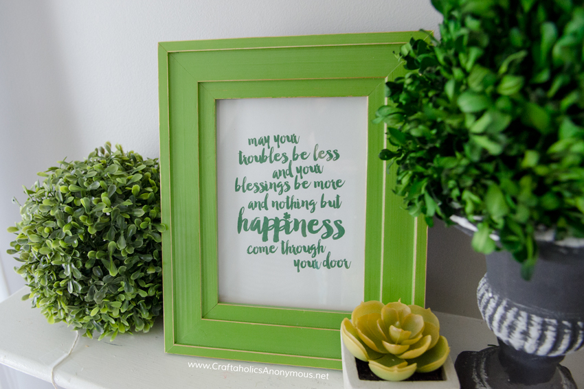 St. Patrick's Day printable Irish blessing