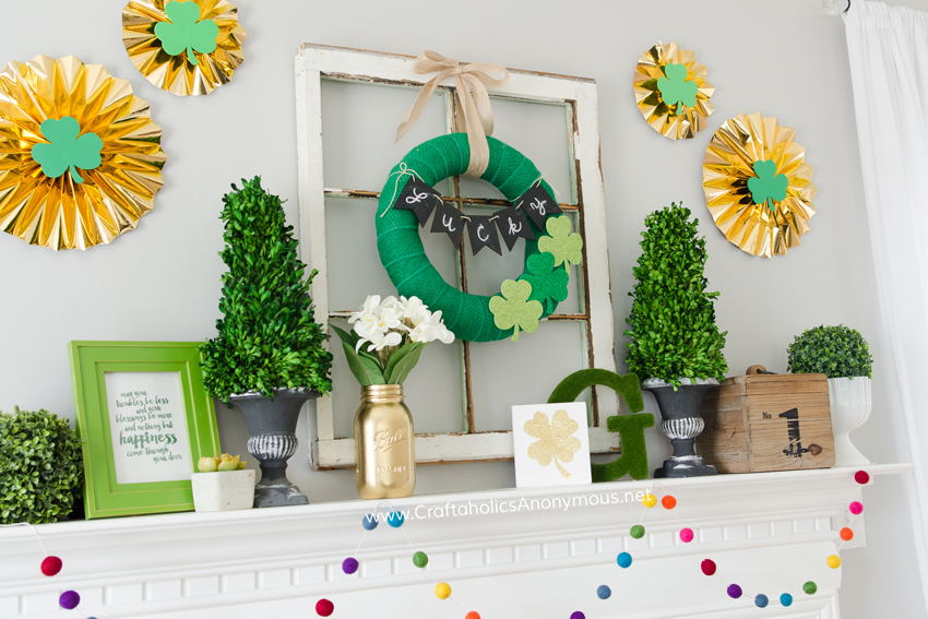 DIY St. Paddy's Day mantle