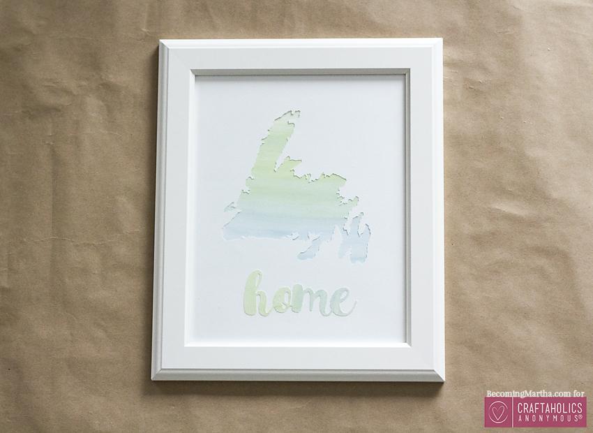 DIY Watercolor Home Art