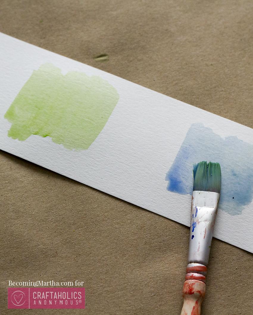 blending watercolors