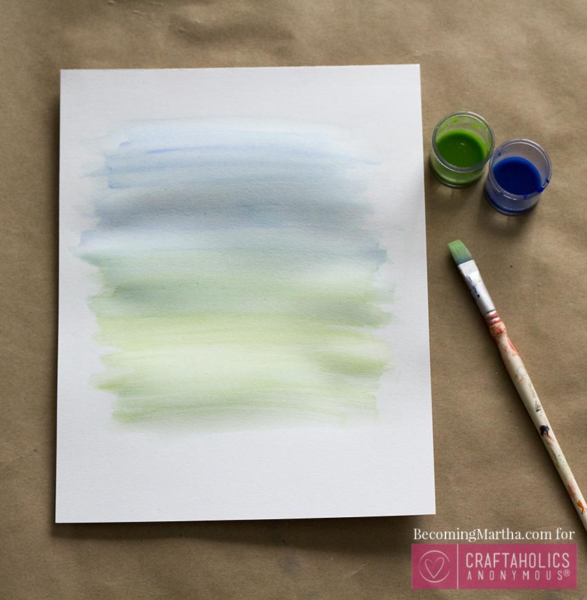 watercolor DIY art