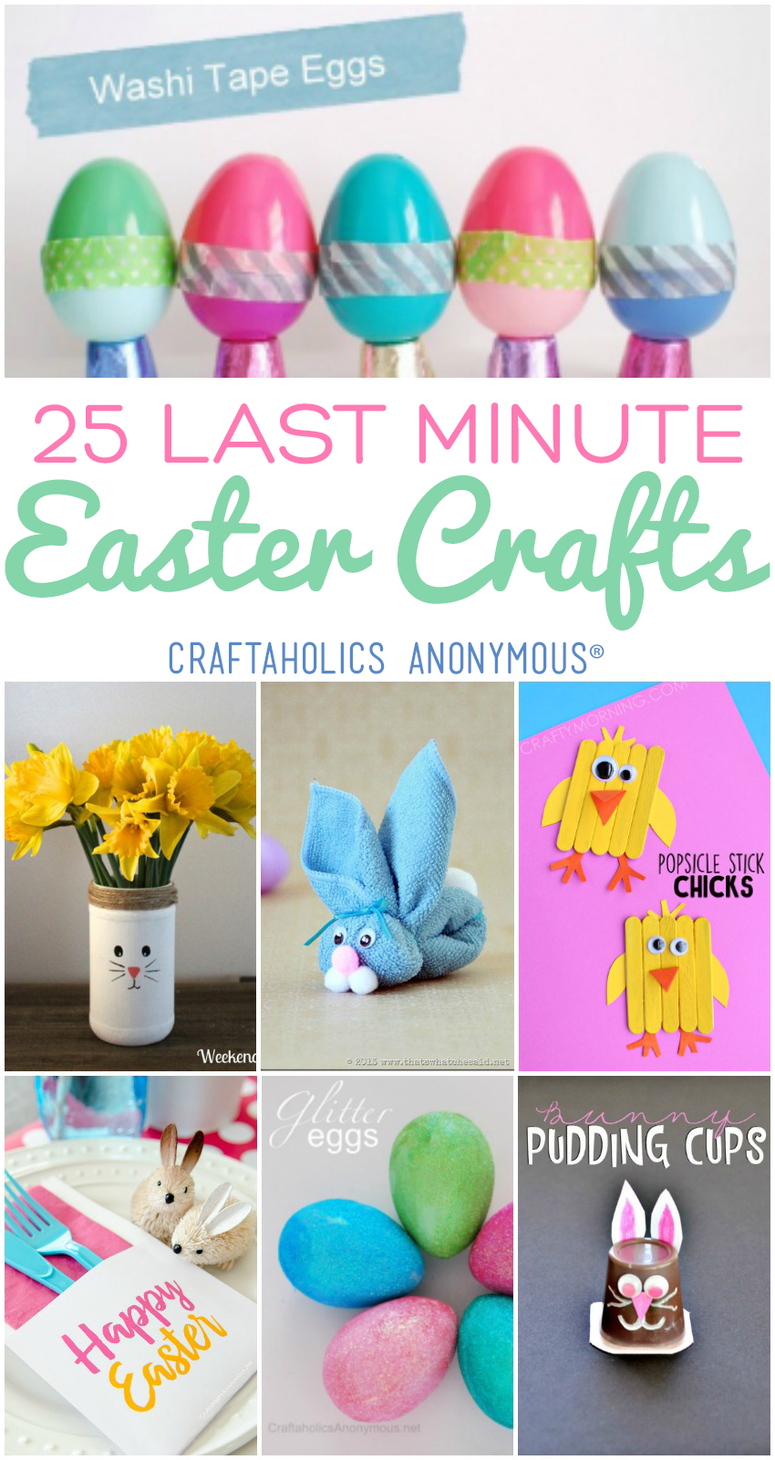 25 Last Minute Easter Crafts