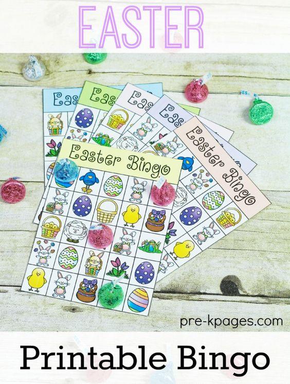 easter printable bingo