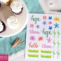 Free Printable Spring Cupcake Toppers