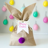 Easter Bunny Gift Bags with Free Printable Tags