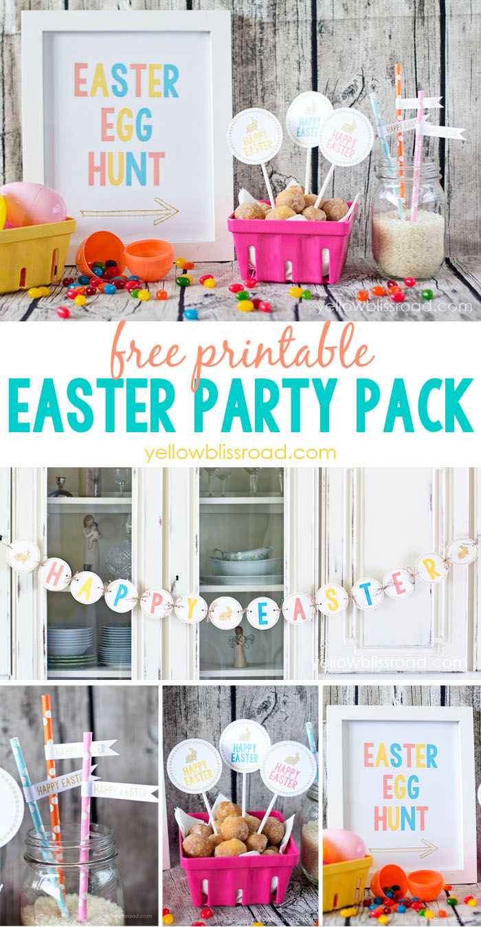 printable easter party pack