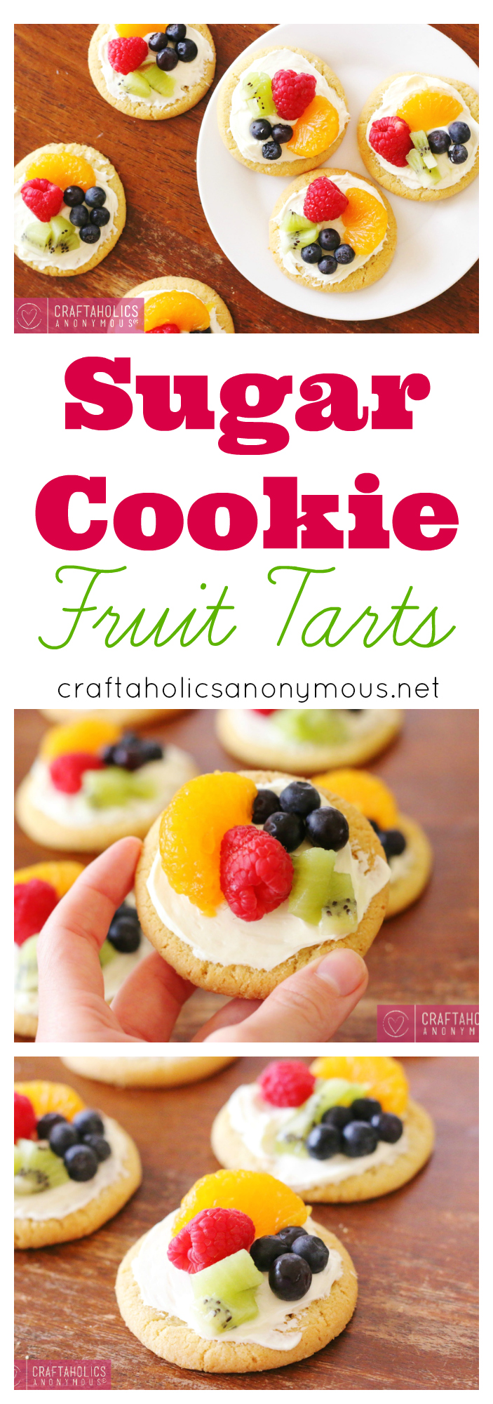 Make these delicous and easy Sugar Cookie Fruit Tarts for your next spring bash!