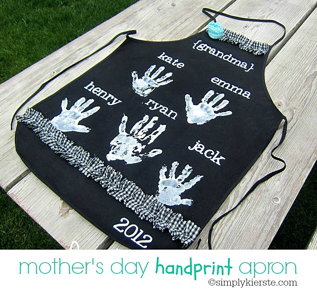 handprint apron for mother's day