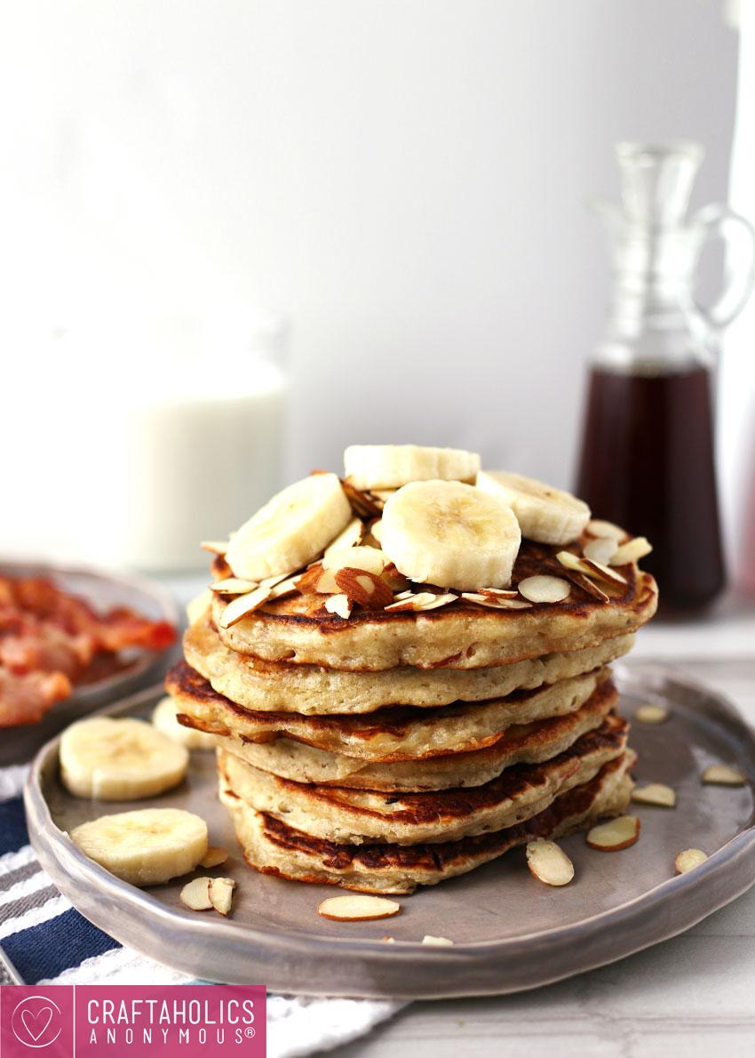 Easy Banana Almond Pancakes for Brunch