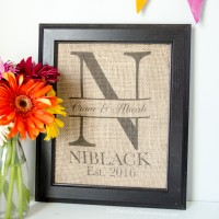 DIY Monogram Wedding Gift Idea