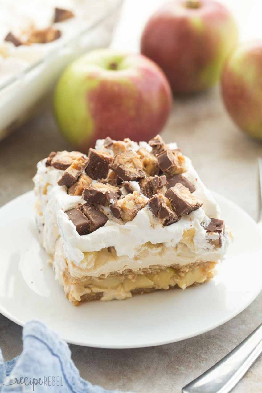 no bake snickers apple pie