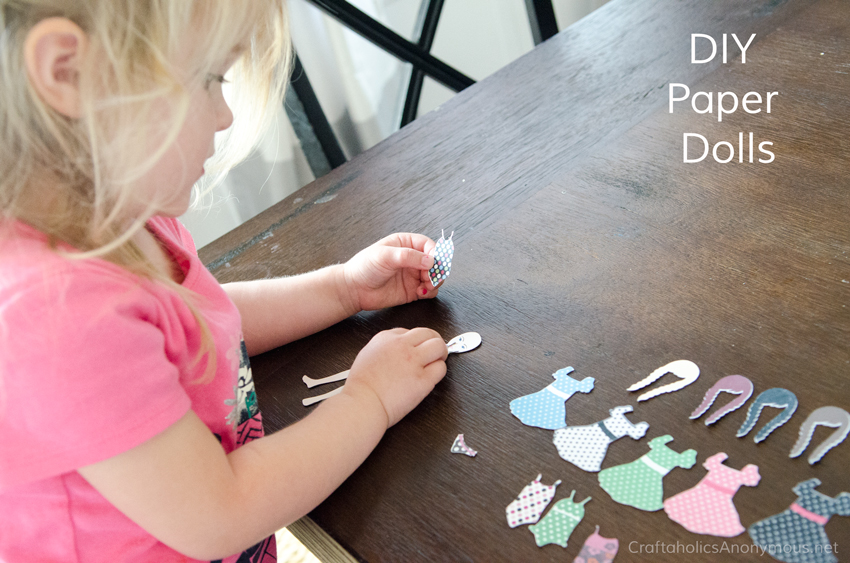 DIY Paper Dolls. They are magnetic and the pieces stick to the doll.