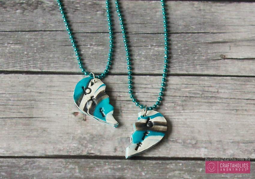 diy best friend necklace