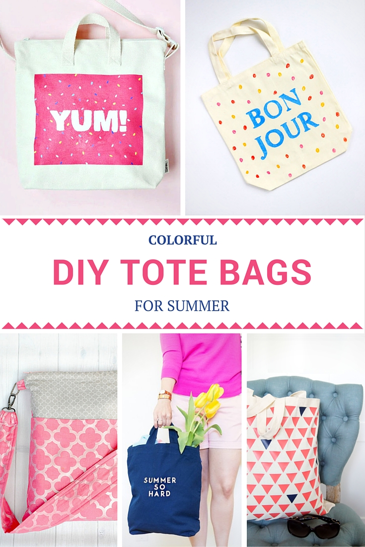 32 Colorful DIY Tote Bags For Summer Pinterest v2 - No number