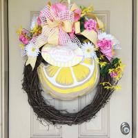 Lemonade Themed Summer Wreath