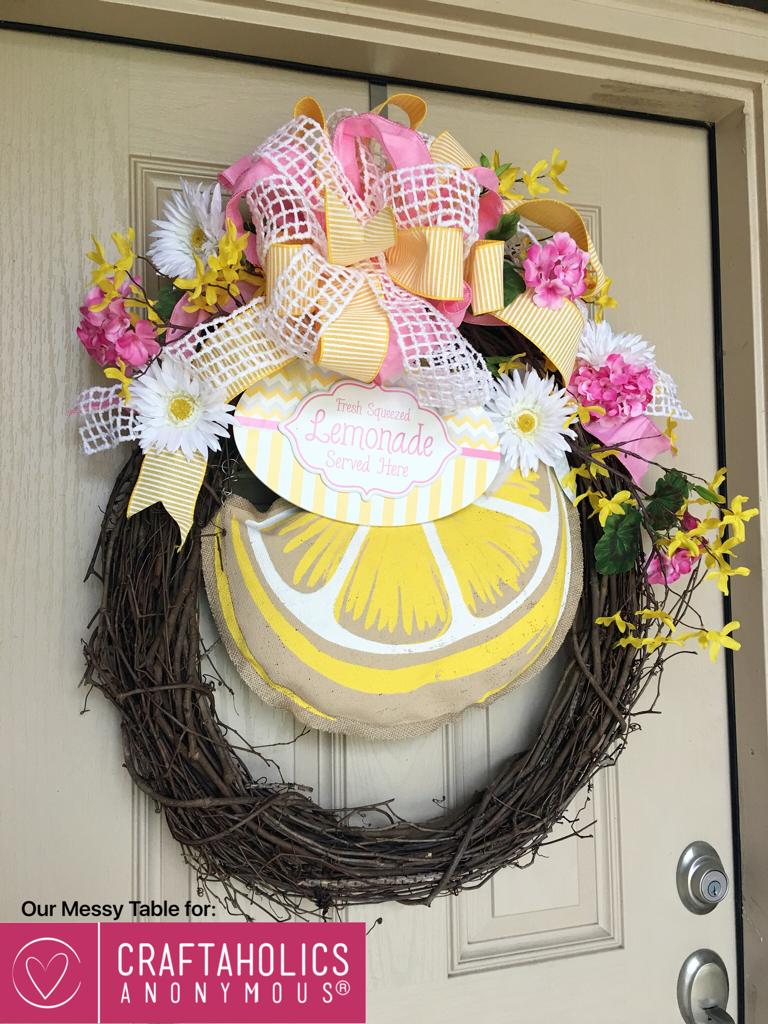 summer lemonade themed wreath