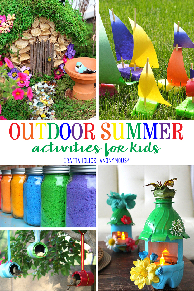 Outdoor Summer Activities for Kids from Craftaholics Anonymous