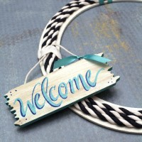 DIY Summer Welcome Wreath