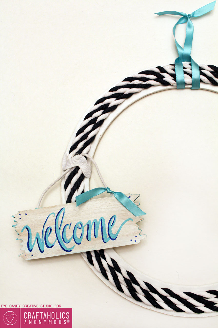 cute summer welcome wreath porch decor