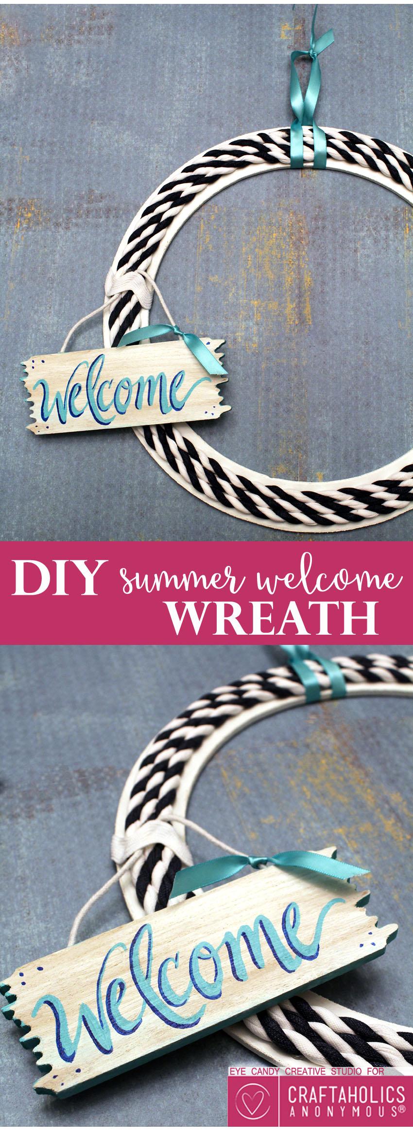DIY Summer Welcome Wreath