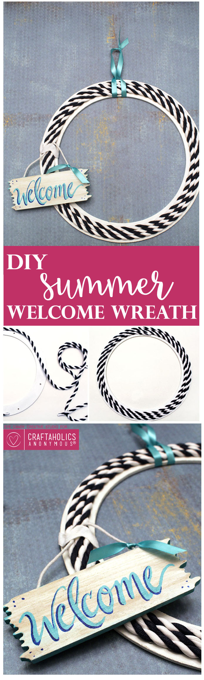 Easy Summer Welcome Wreath | Craftaholics Anonymous