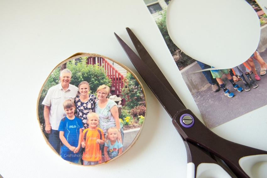 Wood Slice Photo Transfer