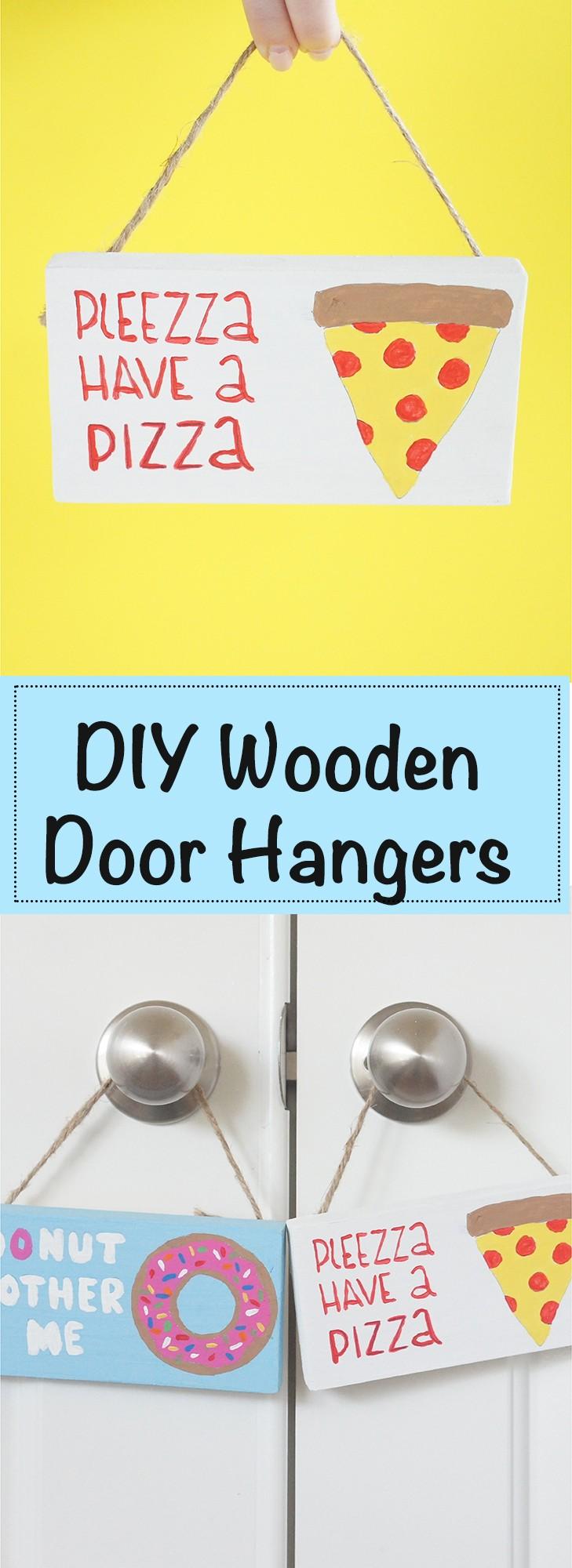 DIY Door Hangers for your front door! Cute door hangers, easy woody craft, painted door hangers