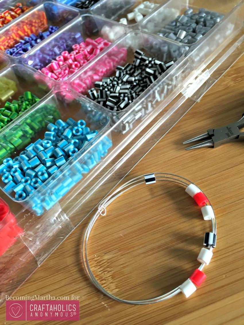 perler bead charm bracelet