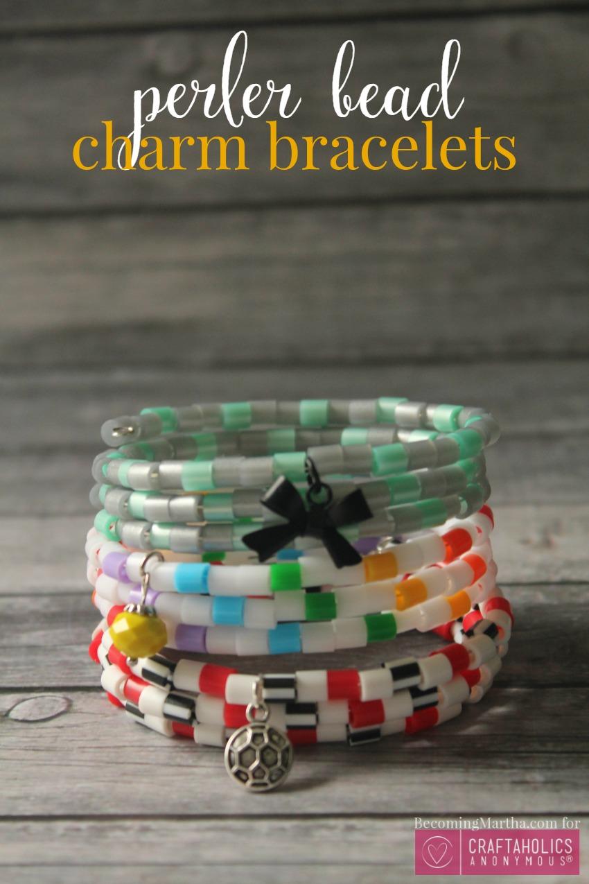 perler bead charm bracelets