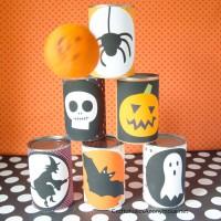 DIY Halloween Bowling game printables