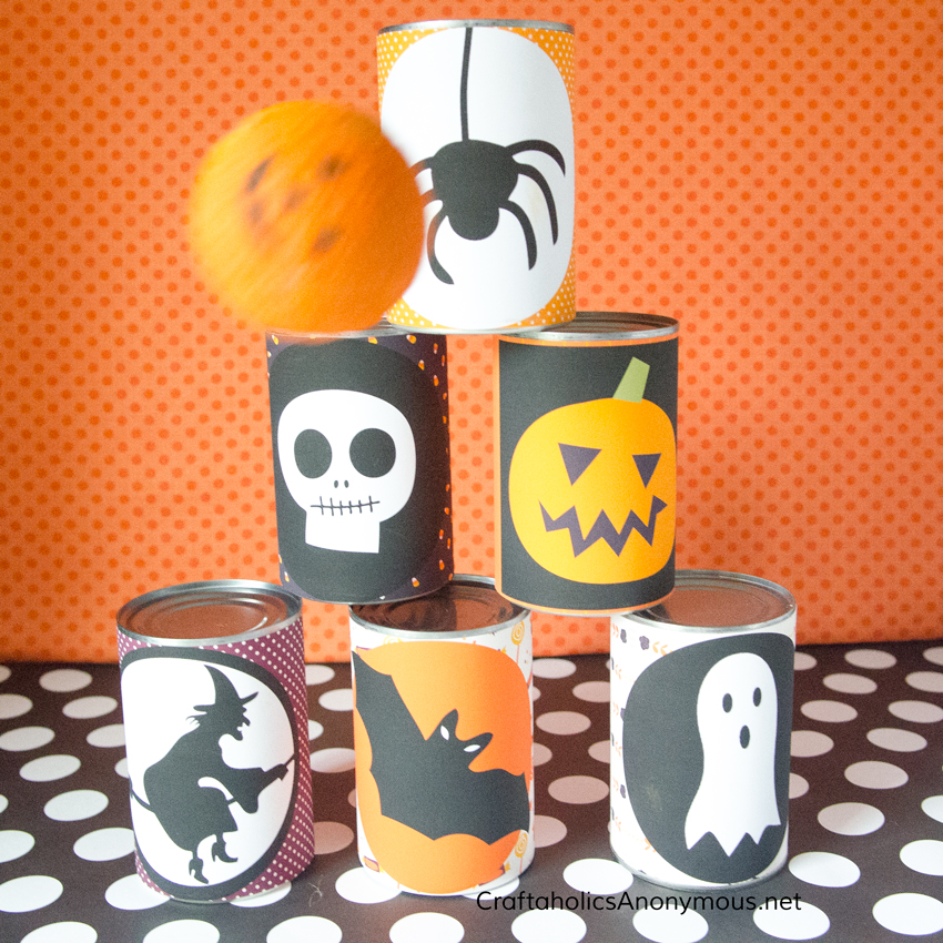 Halloween Tin Can Bowling Game - Free Printables